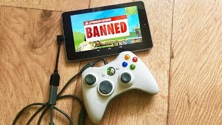 I used a Controller on Mobile Fortnite to cheat... (banned)
