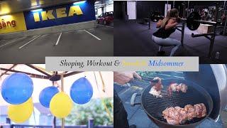 Ikea shopping, workout and Swedish Midsummer