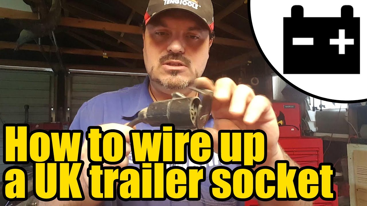 How To Wire Up A Uk Trailer Lighting Socket 1948 Youtube Wiring Lamp