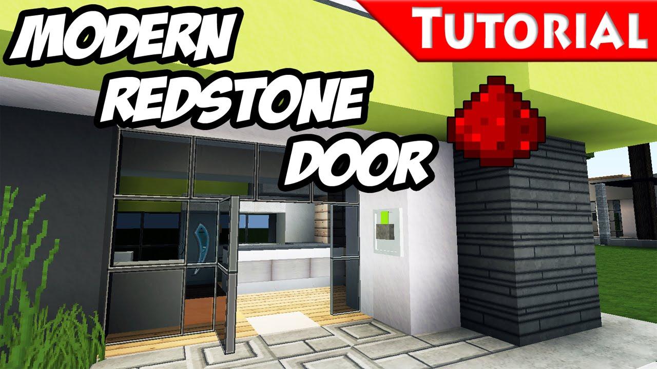 Minecraft Redstone Door Tutorial Download For Modern Redstone