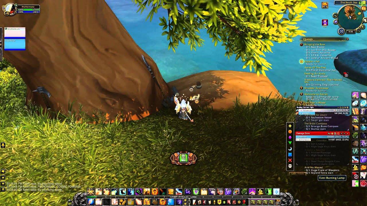 World of Warcraft - Robin Williams Easter Egg - YouTube