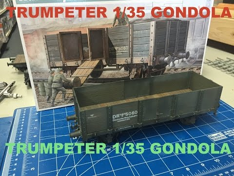 Building the Trumpeter 1/35 German WWII Gondola Rail car , plastic model train