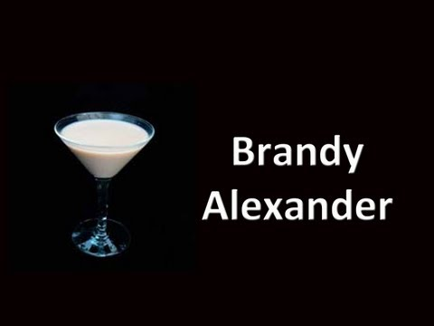 Brandy Alexander Cocktail Drink Recipe