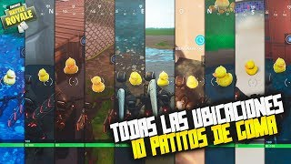 BUSCA PATITOS DE GOMA!!! *TODAS LAS UBICACIONES (10)* | FORTNITE:BATTLE ROYALE
