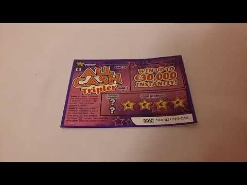 All Cash Tripler Irish National Lottery Scratch Card
