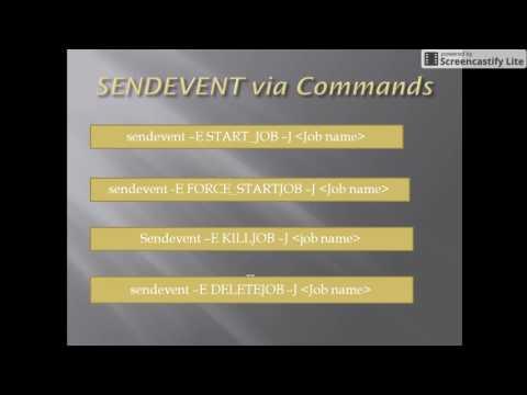 Autosys: Sendevent Commands - Class 3
