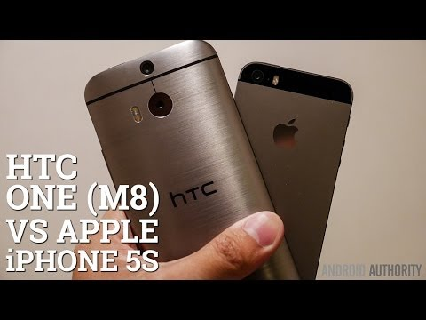 HTC One (M8) vs iPhone 5S quick look