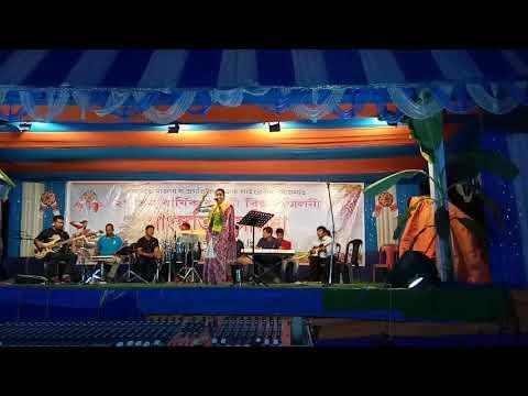 Komola sundari Nahe... Sung by Mourusi Borah at Bongaigaon Bihu stage 2018