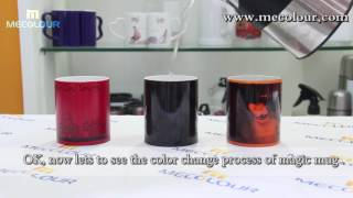 how to change the color when put the hot water