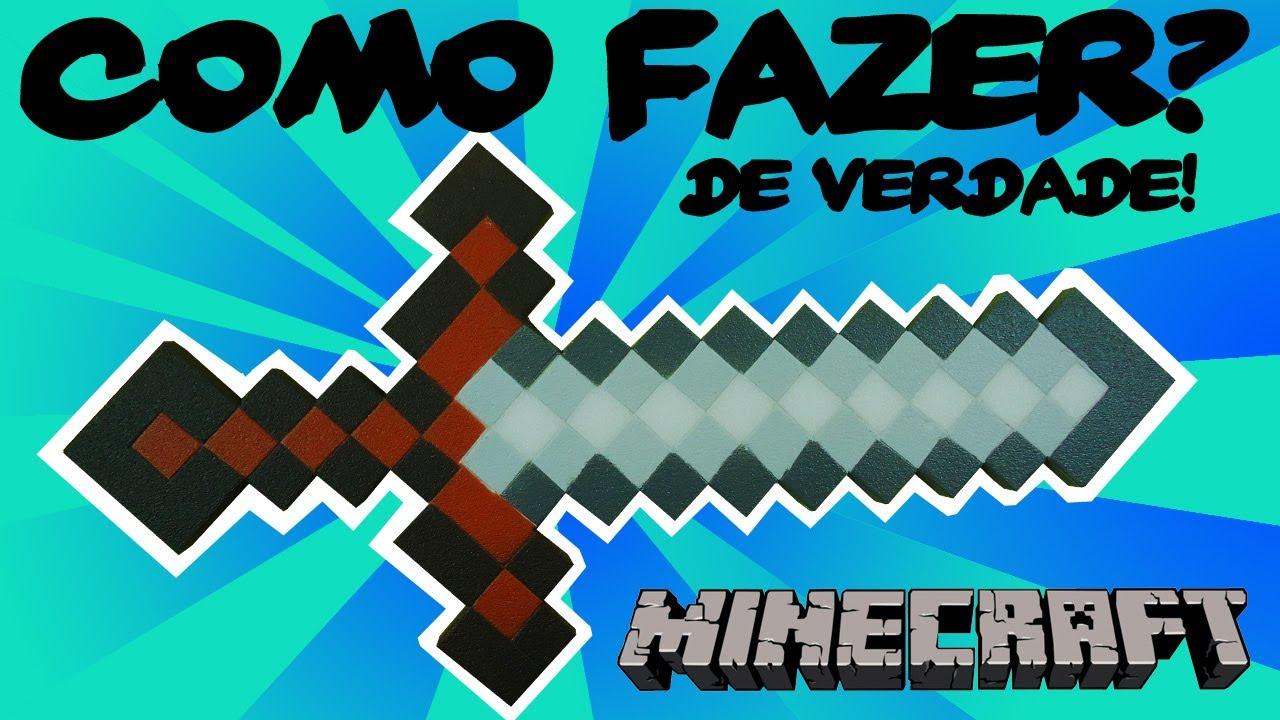 Espada Minecraft Faca A Sua Youtube