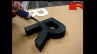 Объемные 3D буквы из пенопласта