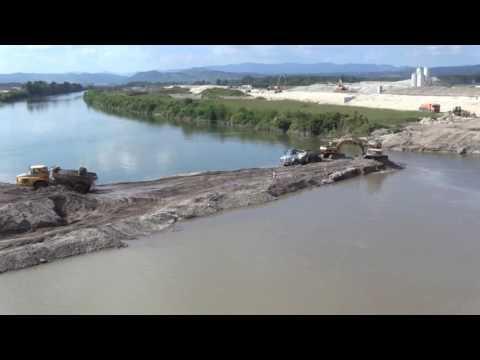 HE Brežice, preusmeritev reke Save