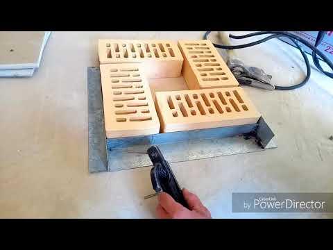Шаблон для простых ровных столбов из кирпича.