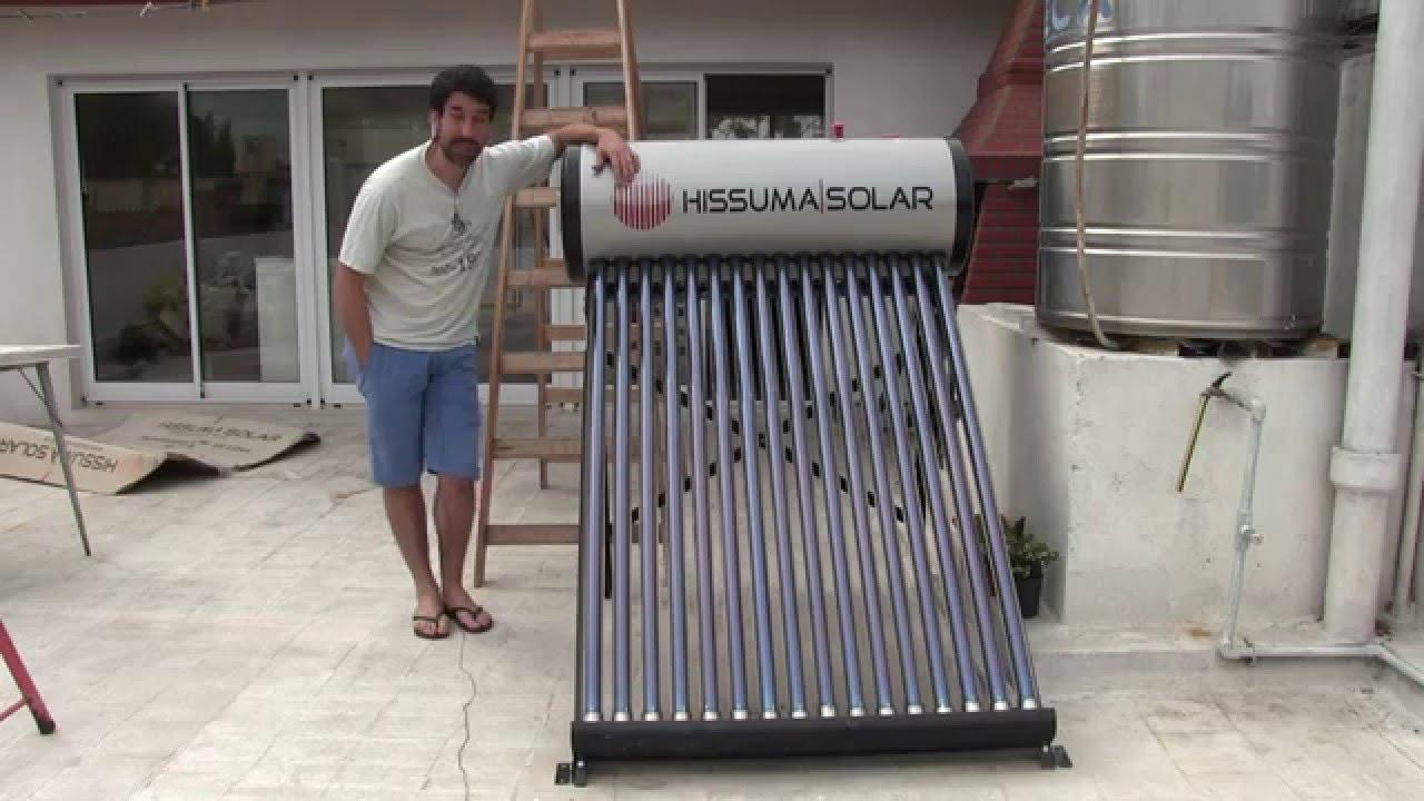 Como Funciona Un Termo Tanque Solar Solar Heater Youtube