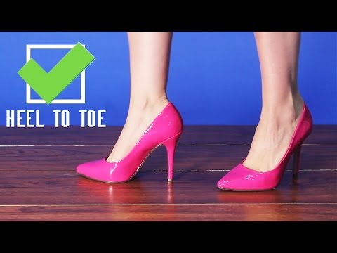 How To Walk In Pointy High Heels Tutorial from AMICLUBWEAR!