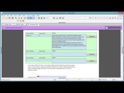 Give me 35 minutes to learn how to make a log or diary form with LiveCycle Designer