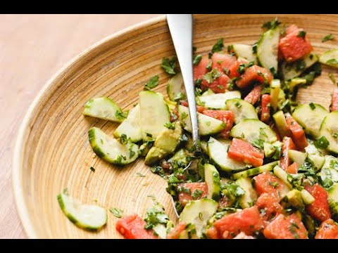 Ep161 - Avocado Watermelon Salad with Fresh Herbs