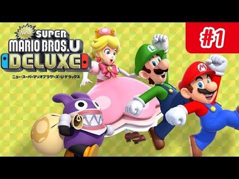 New Super Mario Bros U Deluxe 1 Nintendo Switch Lets Play