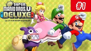 NEW SUPER MARIO BROS. U DELUXE #1 Nintendo Switch Let's play coop 2 joueurs + NEW SUPER LUIGI