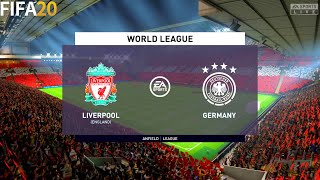 FIFA 20 Liverpool vs Germany World League Full Match Gameplay
