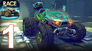 RACE: Rocket Arena Car Extreme - Gameplay Walkthrough Part 1 (Android, iOS) screenshot 2