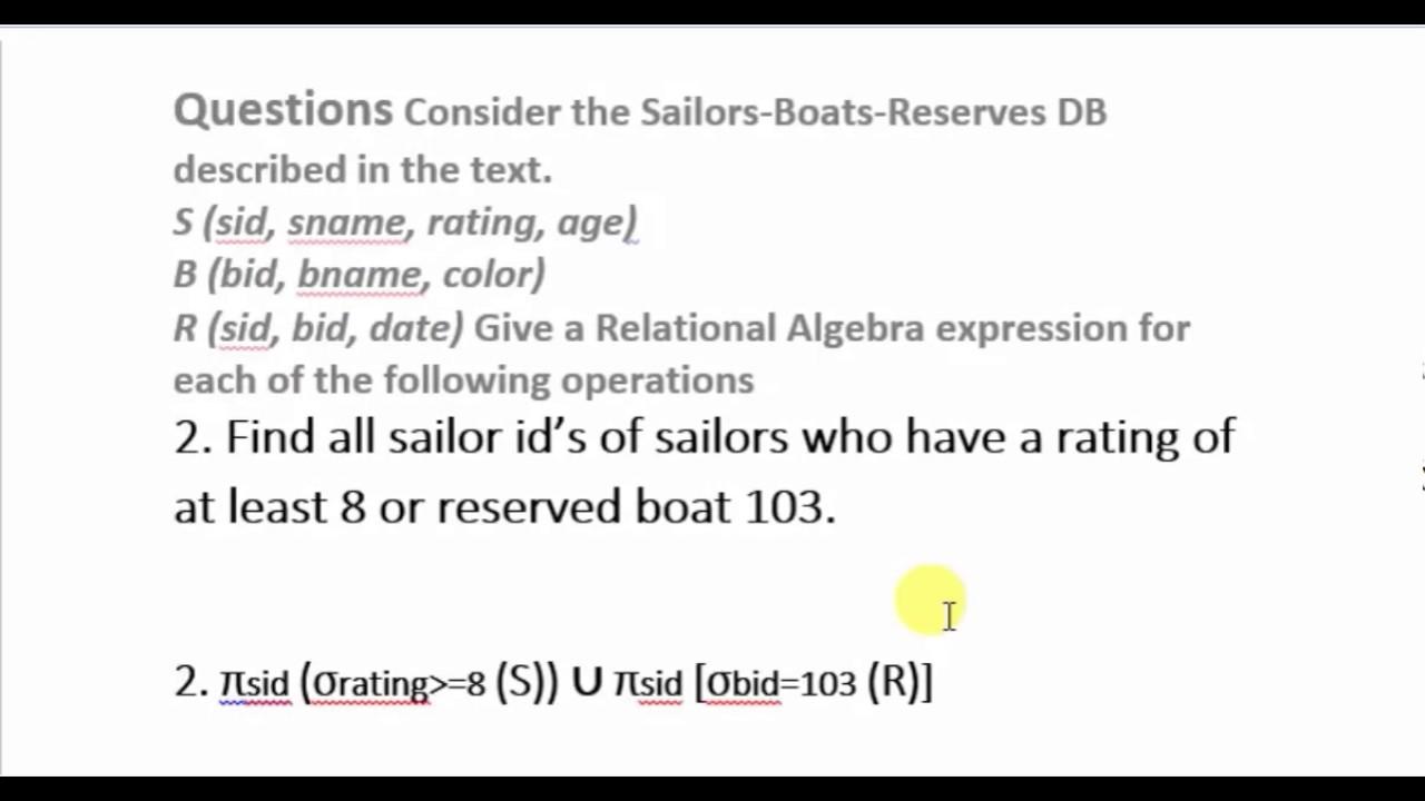 Relational Algebra part 1 (bangla)