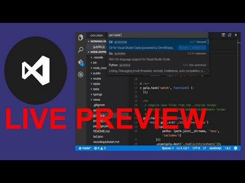 Live Preview In Vs Code | 100% Working | 2017