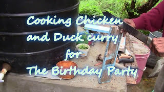 GUYANA,Cooking Duck and Chicken curry for the party ( HD )