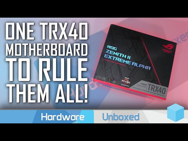 AMD Threadripper 3990X TRX40 VRM Torture Test feat. Asus ROG Zenith II Extreme Alpha