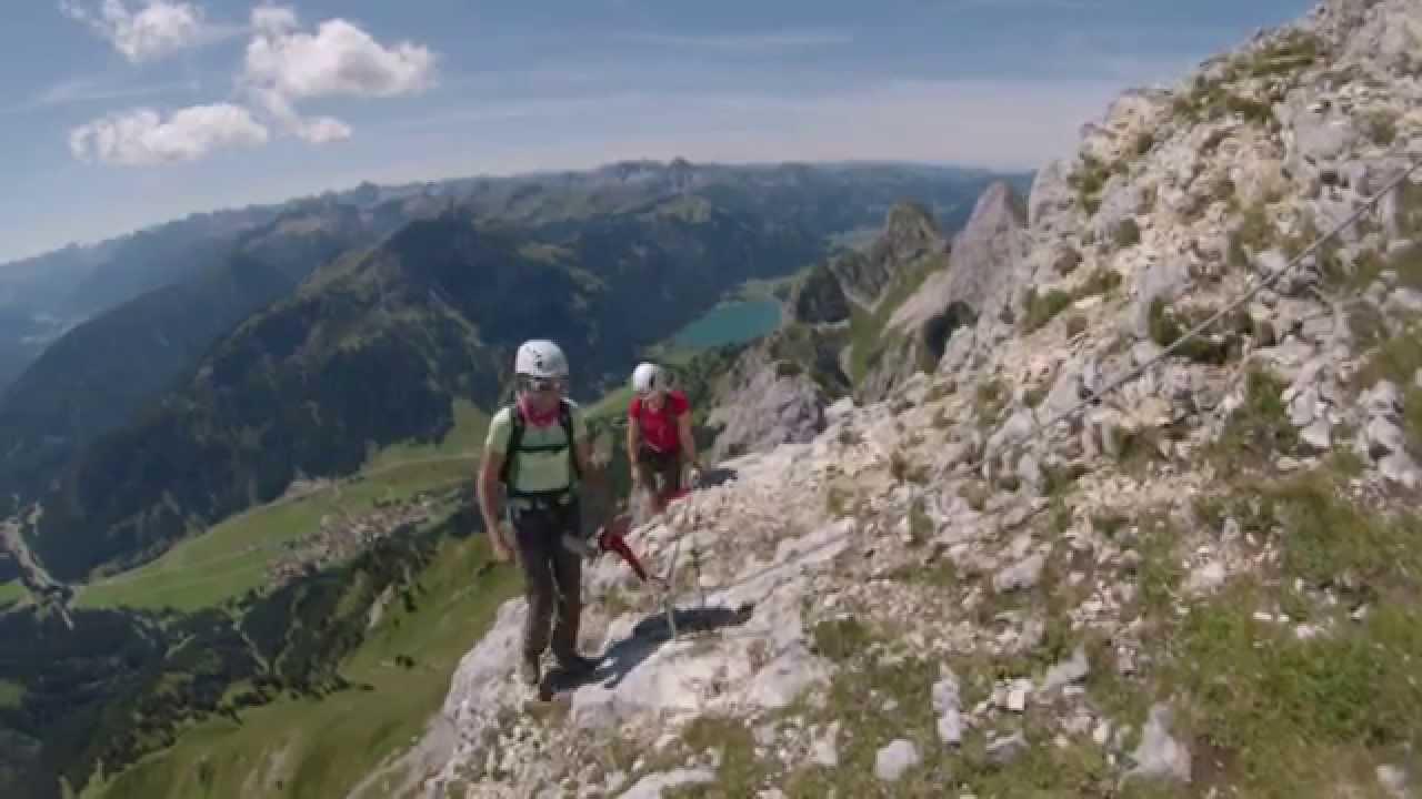 Klettersteig Köllenspitze : Köllenspitze klettersteig südsporn youtube