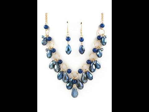 Collar Elegante De Cristales Gotas