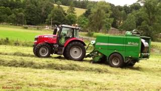 Baling with Massey 6616 and McHale.