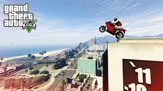 EPIC BIKE STUNT! - (GTA V Stunts & Fails)