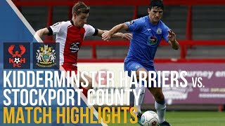 Kidderminster Harriers vs Stockport County - Match Highlights - 27.08.2018