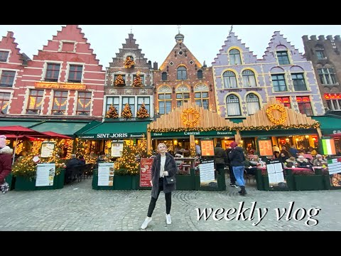FAIRY TALE CHRISTMAS TOWN | Weekly Vlog #128 - Bruges Travel Edition