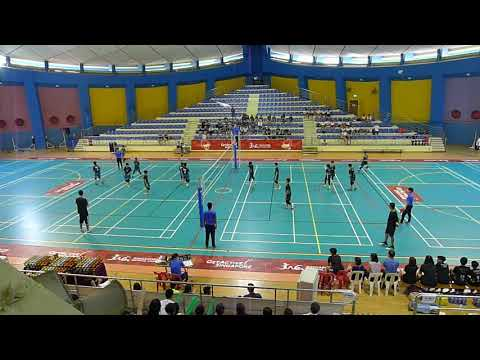 20180412 Qifa vs Catholic High (Set 1) - Singapore Primary School Volleyball Final