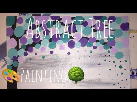 Boho Abstract Tree Time-lapse!