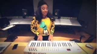 Beauty On Da Beat: CeCe G In The Studio Making A Beat!