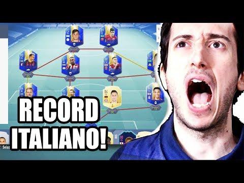 CE L'HO FATTA! BATTUTO IL RECORD ITALIANO DI TOTS!!!! - fifa 19 Fut Draft Challenge