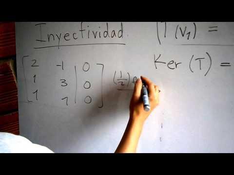 Isomorfismos - Transformaciones Lineales