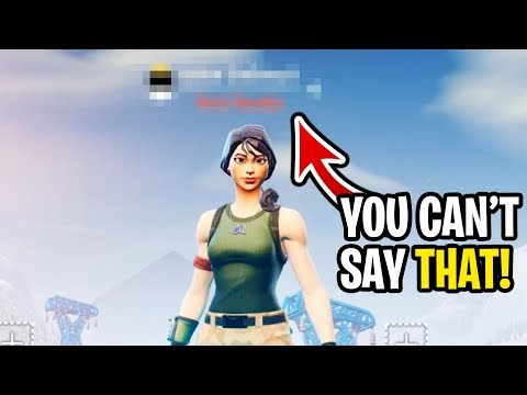 I got people to say my inappropriate  name on Fortnite... (hilarious reactions)