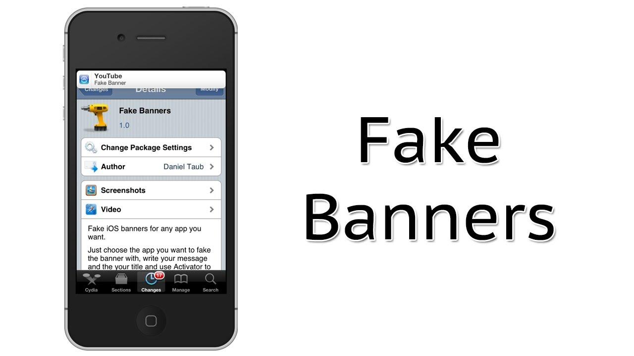 Send Fake Notification Center Banners | Fake Banners Cydia Tweak Review