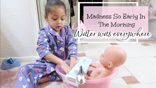SHE HAS TO BATHE HER BABY!   NEW BORN CLOTHES?   RAISINGHALO VLOGS