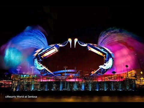 Crane Dance Full Show At Sentosa - Singapore. World Longest Crane Dance -2018 (HD)