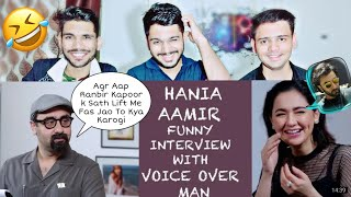 Indian Reacts To Hania Aamir Funny Interview With Voice Over Man