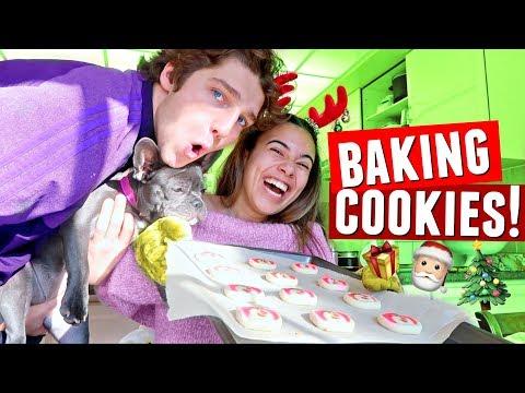 BAKING CHRISTMAS COOKIES with Matt and Adelaine! | Vlogmas Day 3