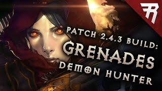 2.6 Demon Hunter Unhallowed Grenades Build - Diablo 3 Reaper of Souls PTR (Season 11)
