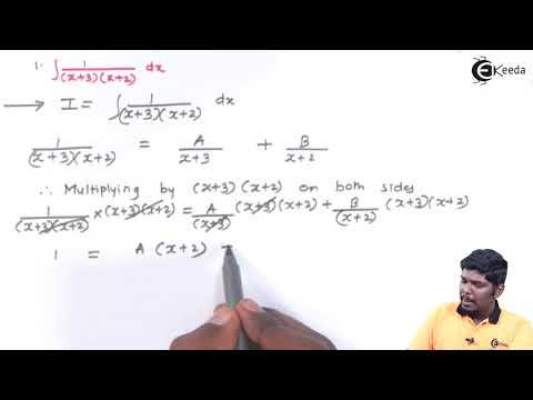 आंशिक अंशों द्वारा एकीकरण पर समस्याएं भाग 1 समस्या नंबर 1 - एकीकरण - डिप्लोमा गणित II
