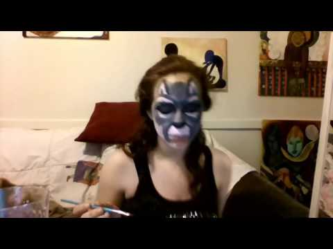 wolf kitty raccoon wild animal face paint youtube