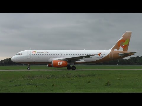 ORANGE2FLY AIRBUS A320-232 LANDING & TAKE OFF ROTTERDAM AIRPORT